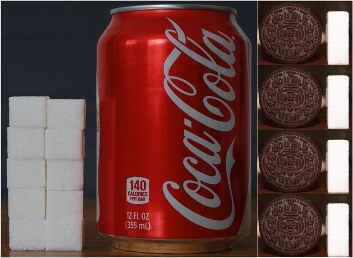 Coca Cola Sugar and Oreos Comparison
