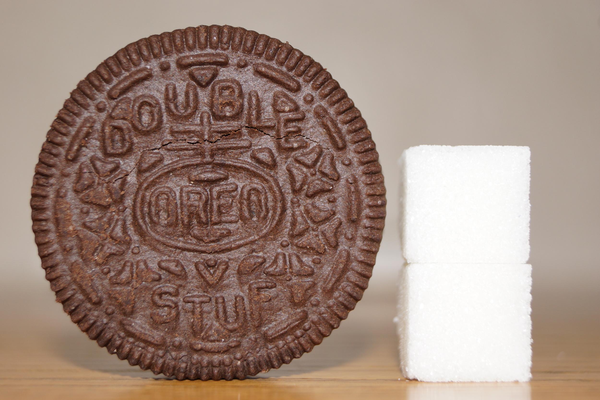 Oreo and Sugar Cube Comparison