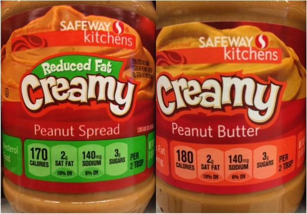 Reduced Fat versus Regular Peanut Butter