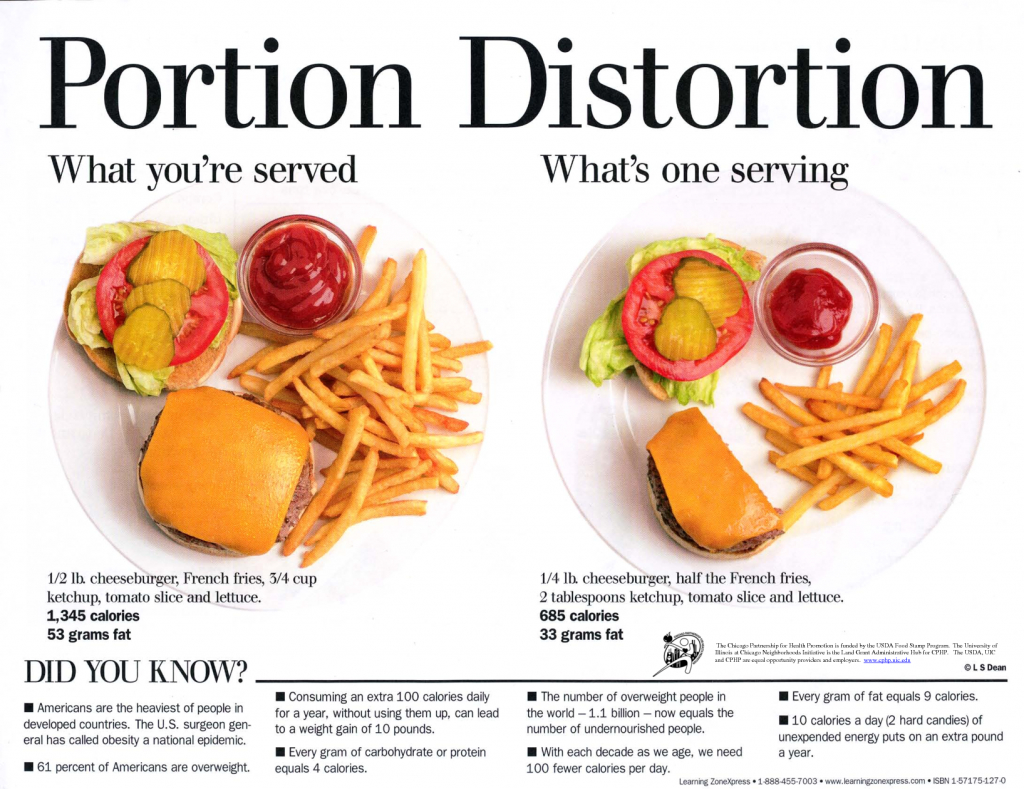 Food Portion Distortion What you are served and what is a serving