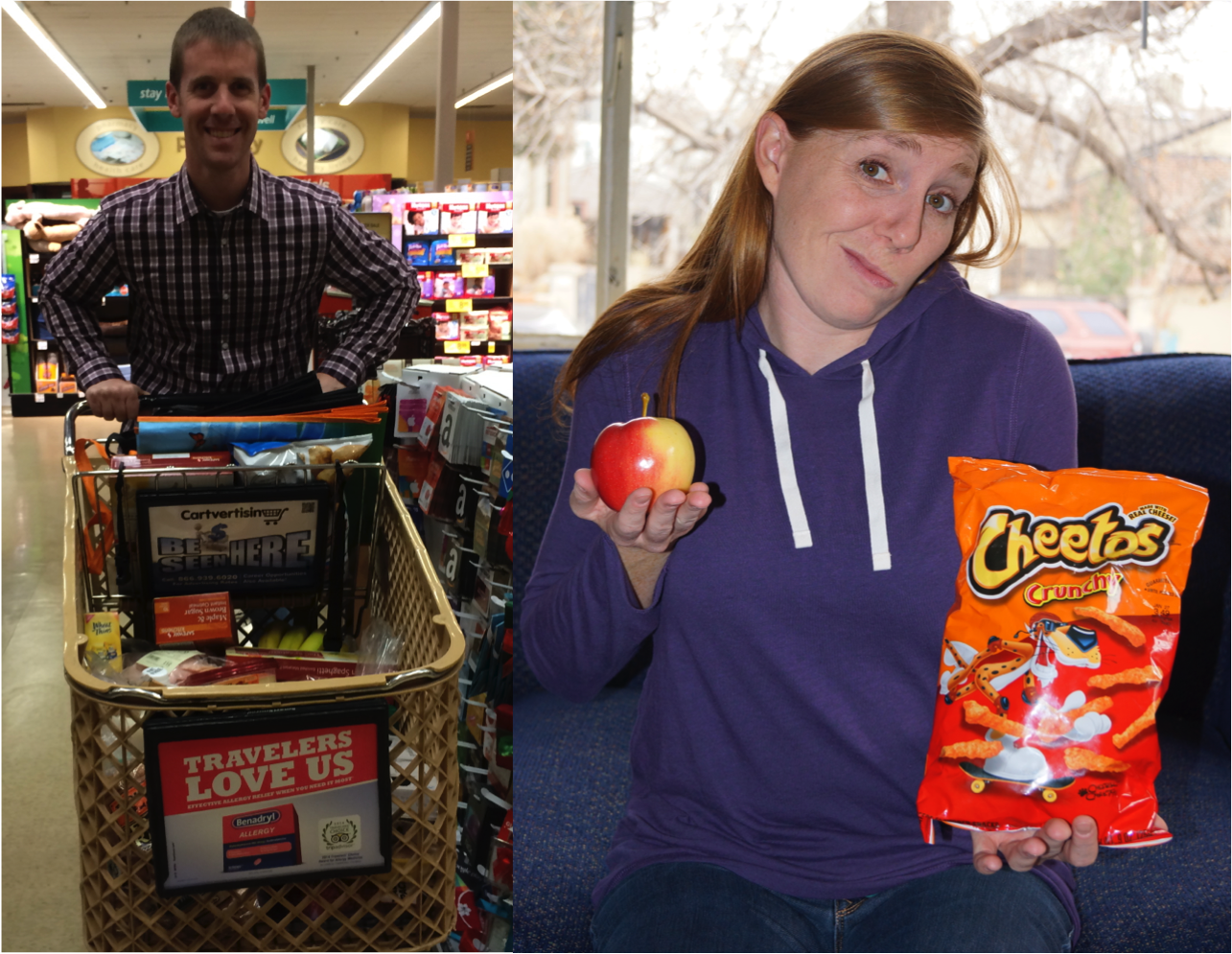 Cheetos or an apple - why grocery shopping is important