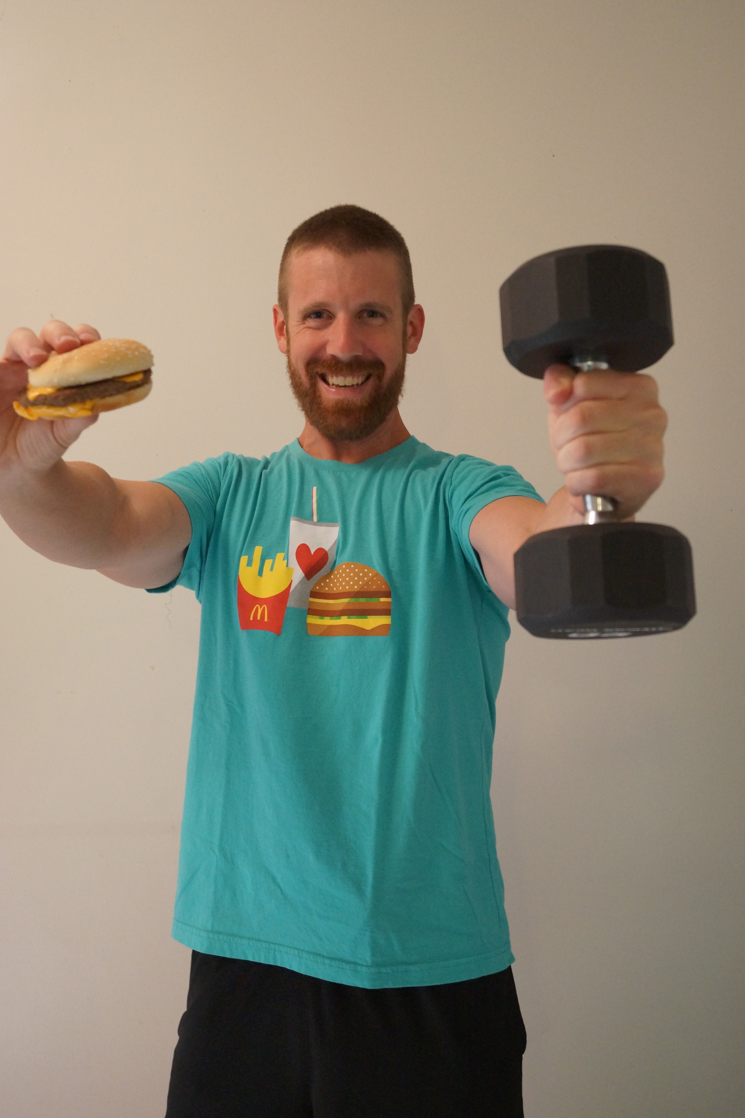 McDonald's Happy Meal Cheeseburger and Weights