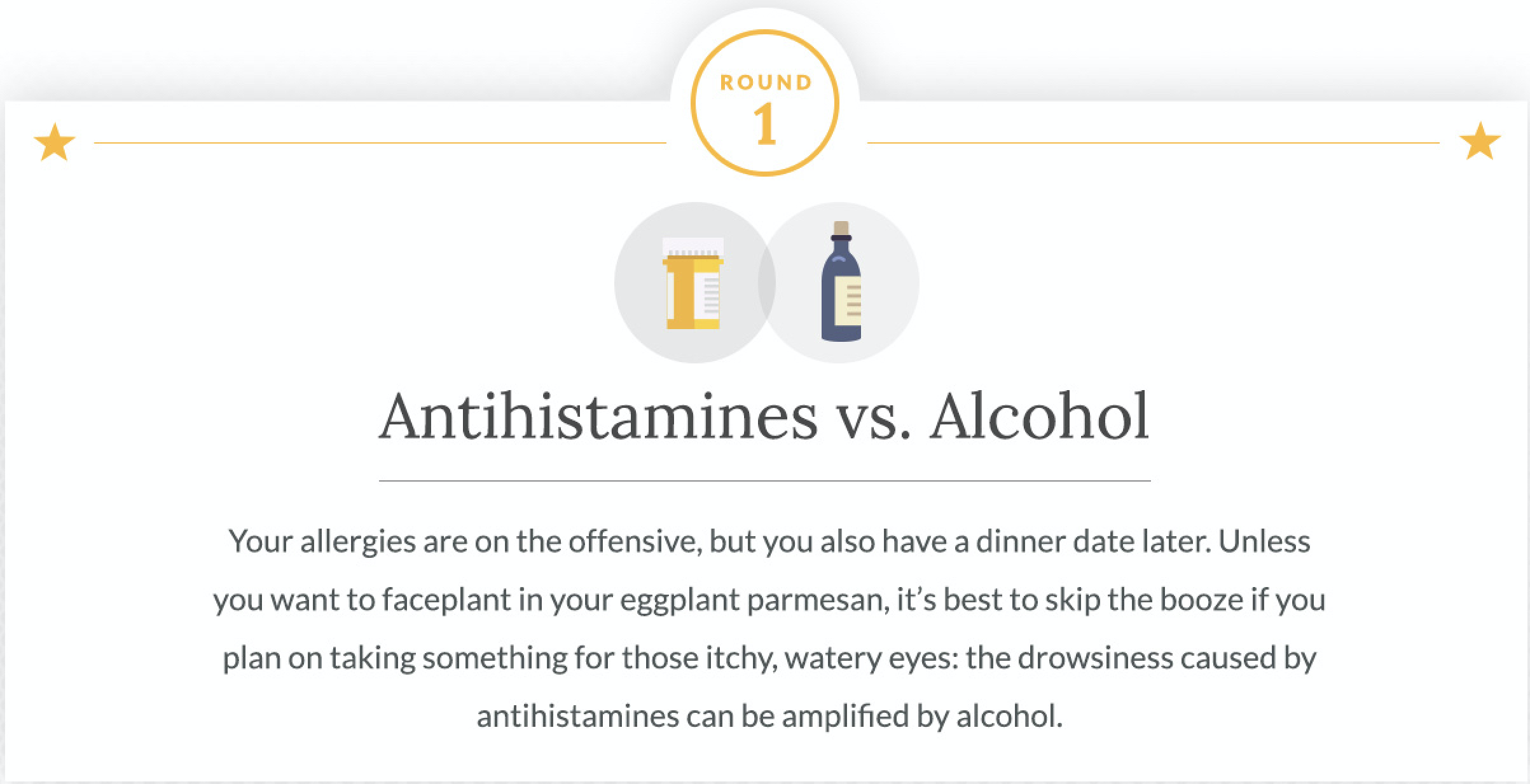 Antihistamines vs. Alcohol