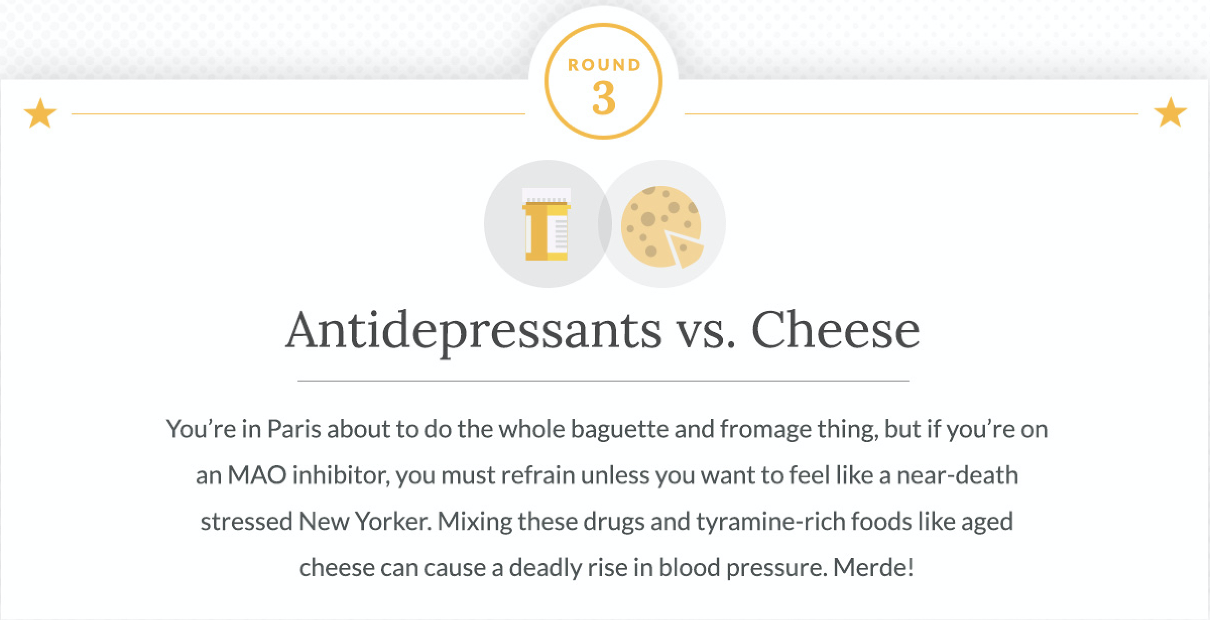 Antidepressants and Cheese