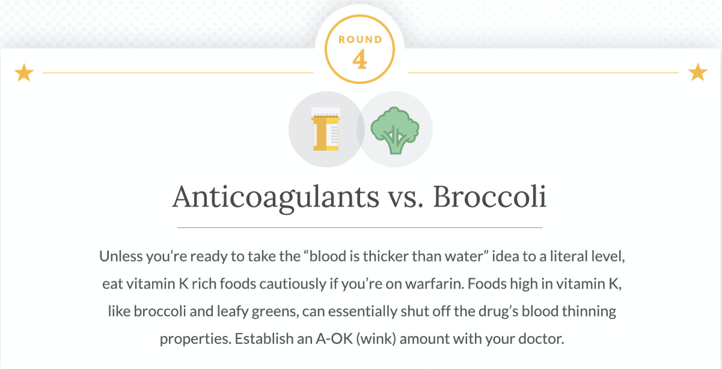 Anticoagulants and Broccoli