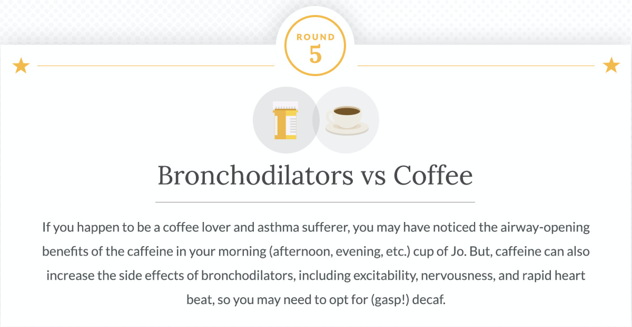 Bronchodilators and Coffee
