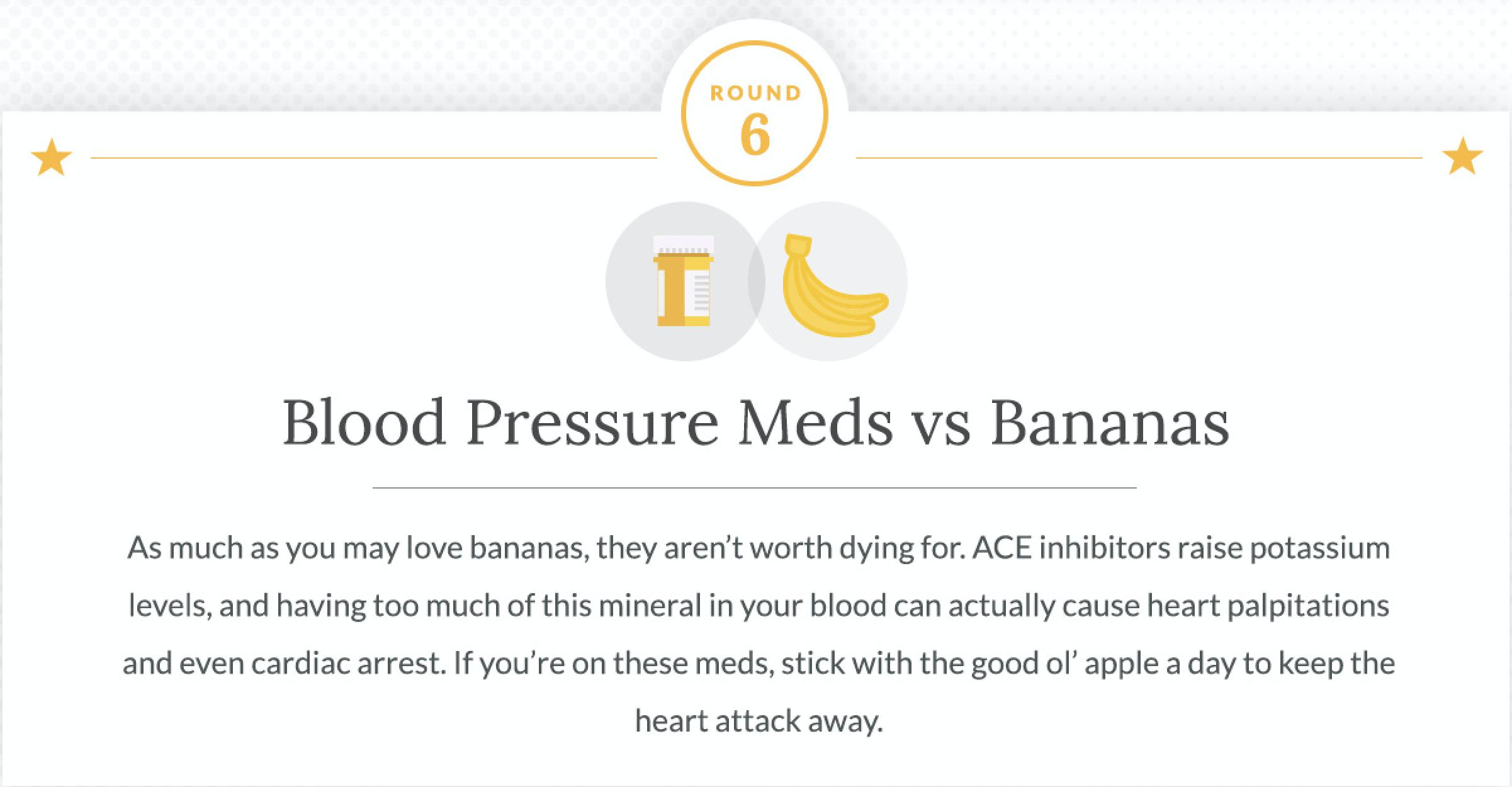 Blood Pressure Medications and Bananas