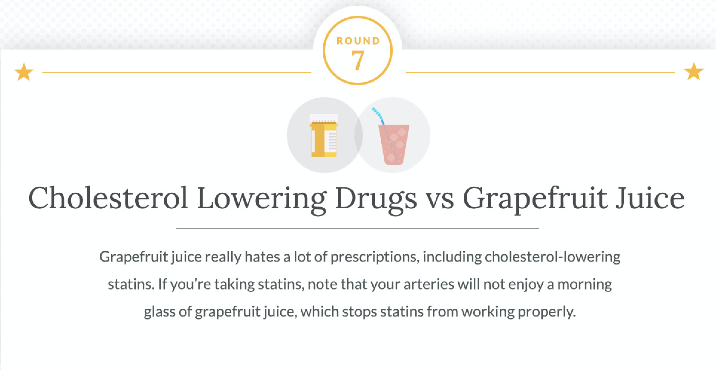 Cholesterol Lowering Drugs and Grapefruit Juice