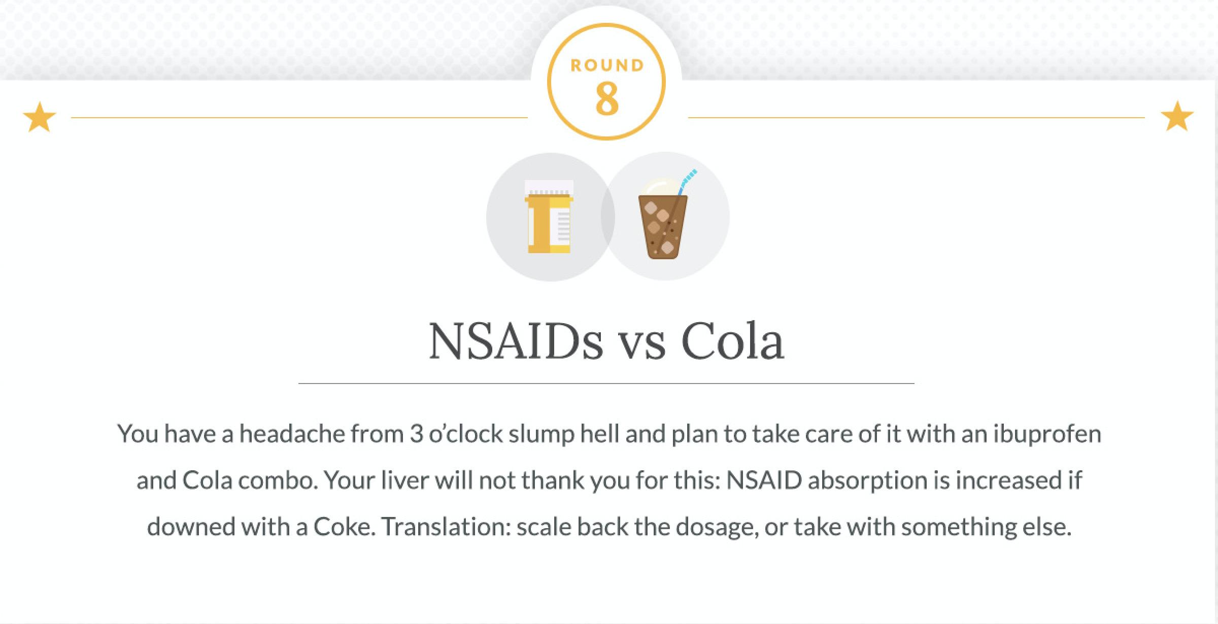 NSAIDs and Cola