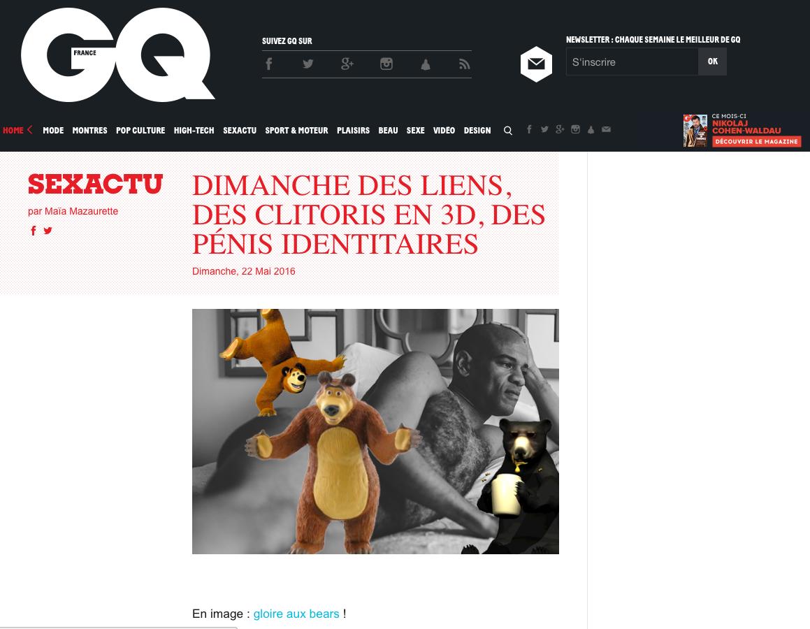 GQ FRANCE - BARE