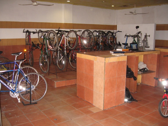 The MK Cycles display area