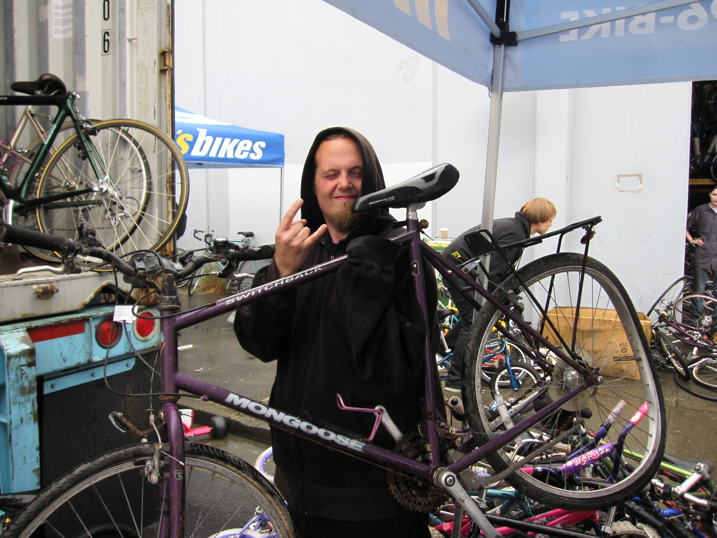 """Dude, I'm stoked! All these bikes are going to Africa. That's sick!"" - Jimbo"