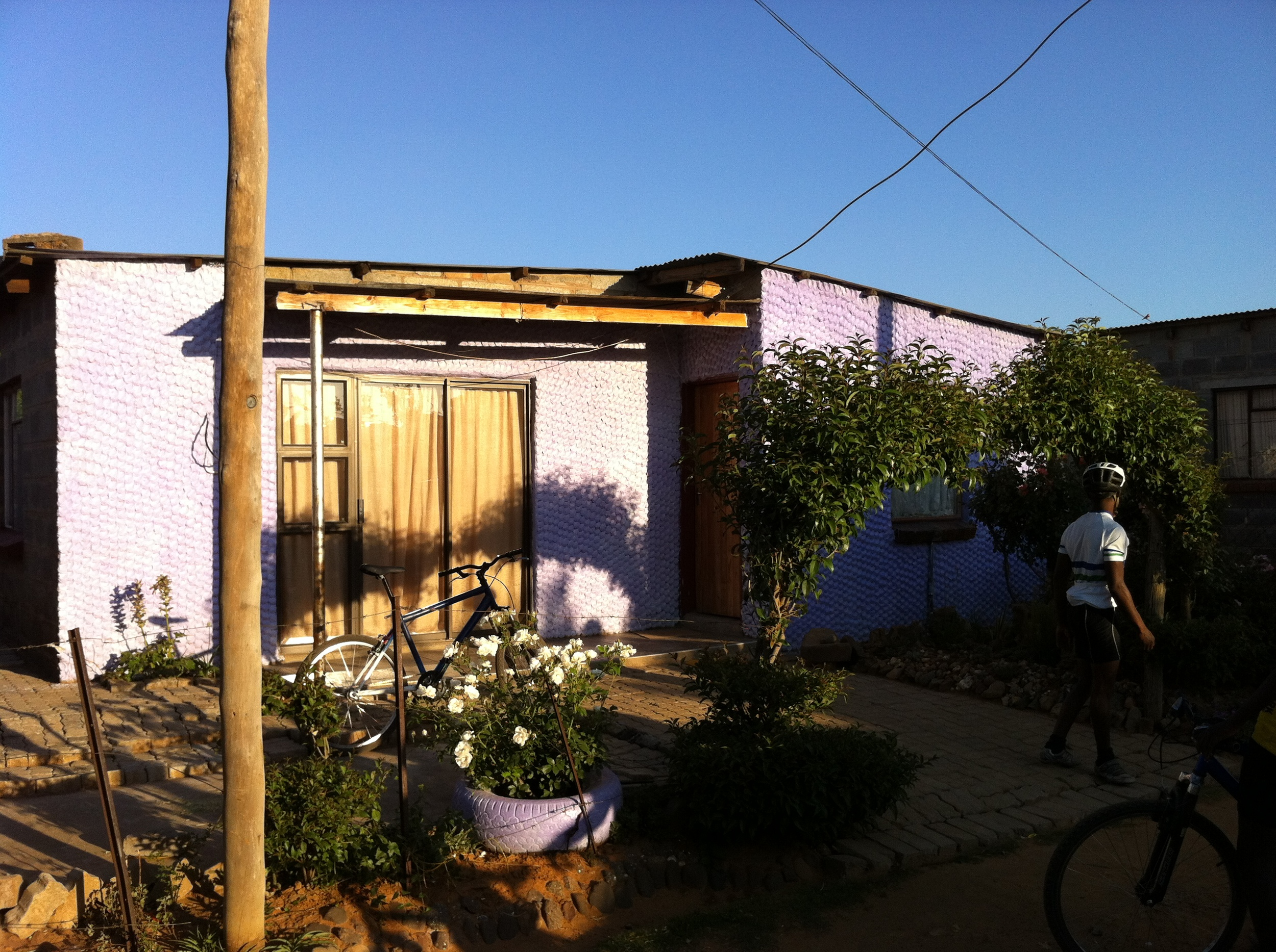 Tumi's mother's house and garden