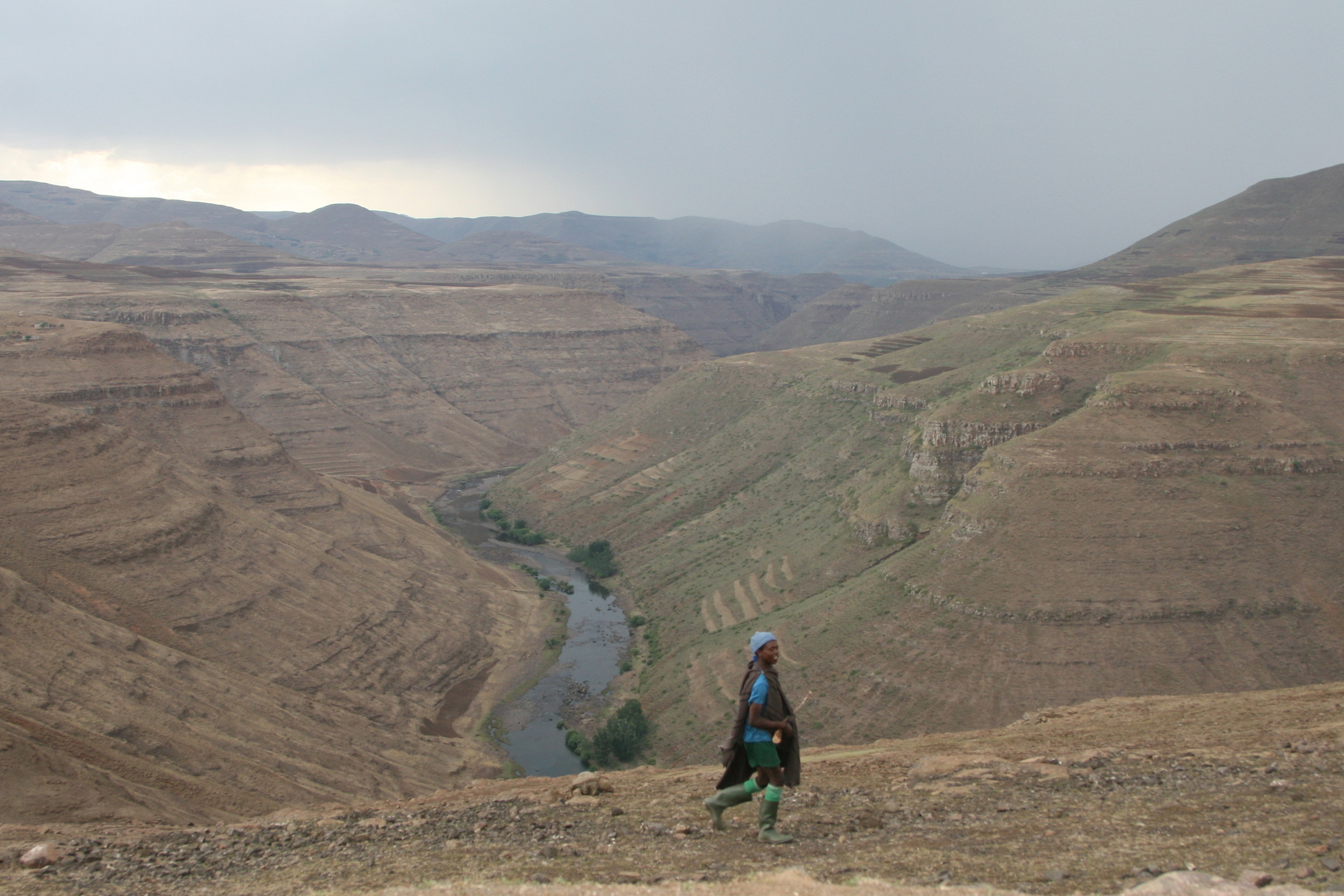 Typical Lesotho highlands landscape