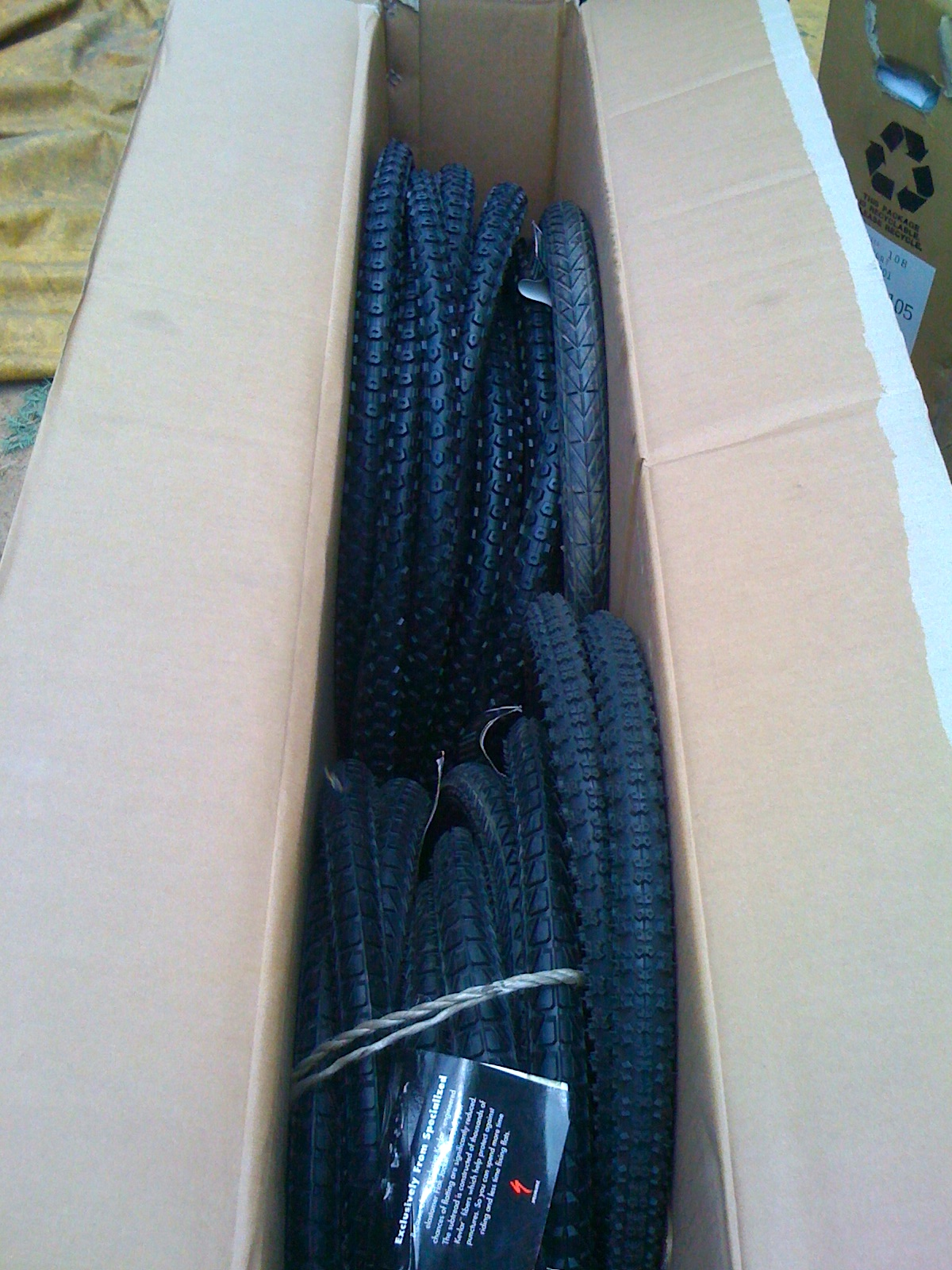 A batch of badly needed tires from Specialized.