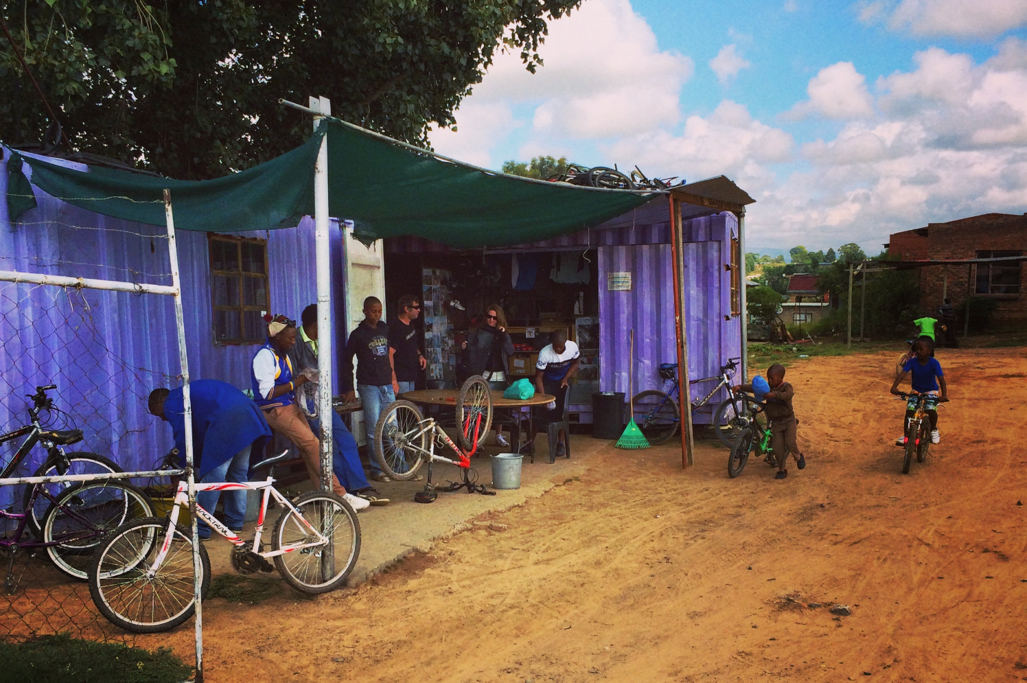 Tumi's Bike Shop is a gathering place for local cyclists.