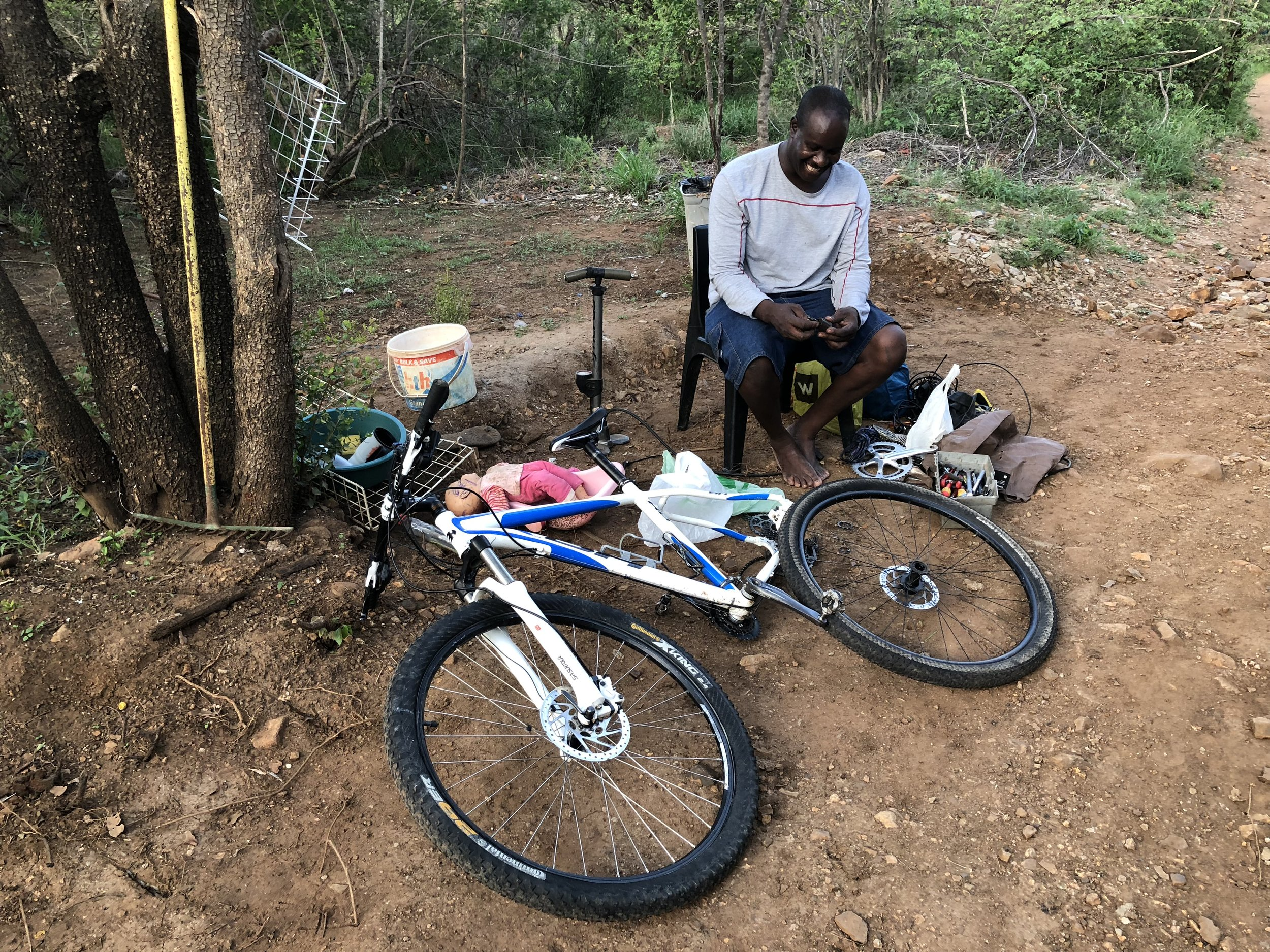 STAYING SUSTAINABLE - Teaching mechanics all around South Africa valuable skills in bicycle mechanics helps keep the projects going beyond our initial donations.