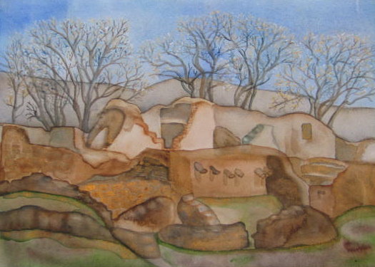Aztec Ruins in Winter
