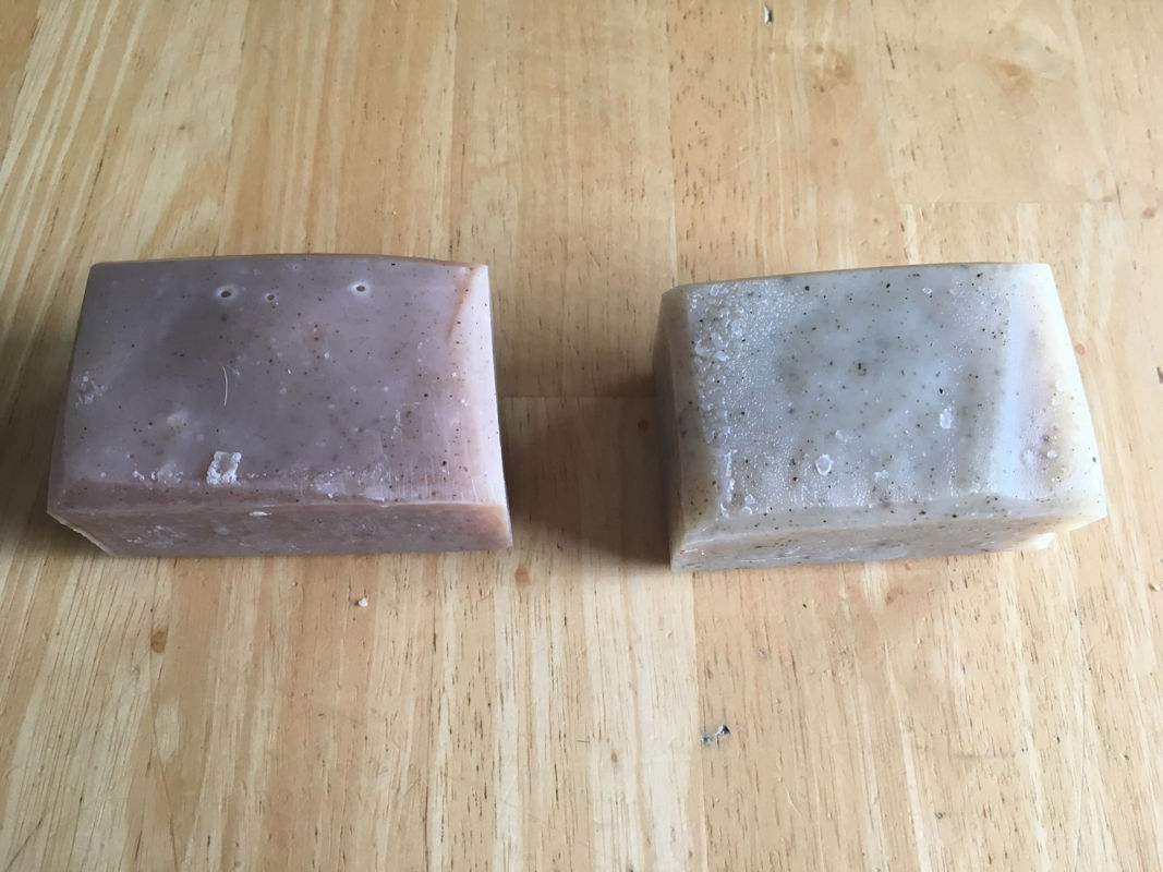 Seventh Sojourn will have 2 new limited edition soaps, Fierce Beast (left) and Alpine Forest (right).