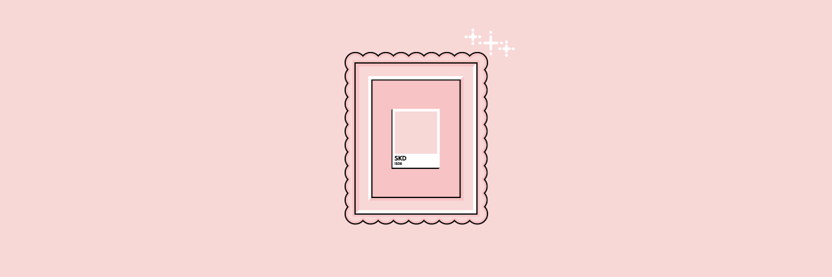 Illustration of a color swatch in a fancy frame.