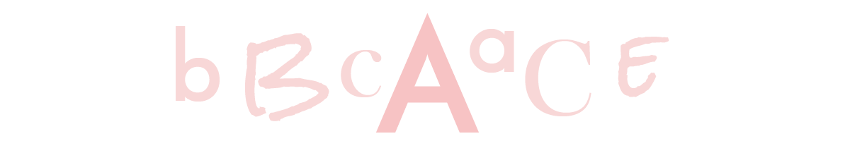 Letters in various fonts