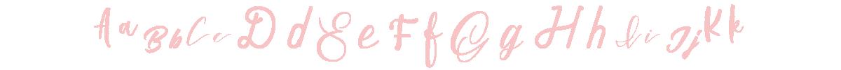 Letters in various script fonts