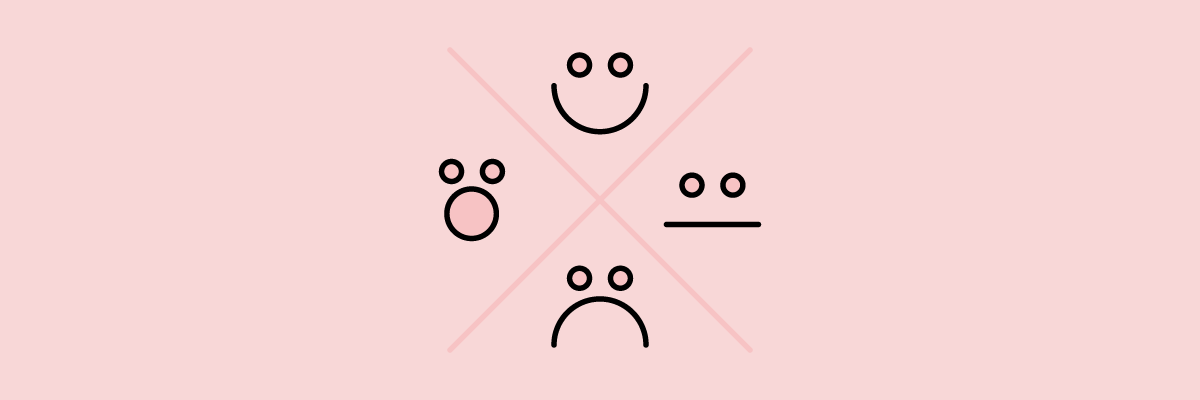 Illustration of different smiley faces