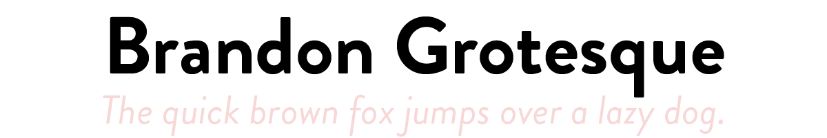 Brandon Grotesque: The quick brown fox jumps over a lazy dog.