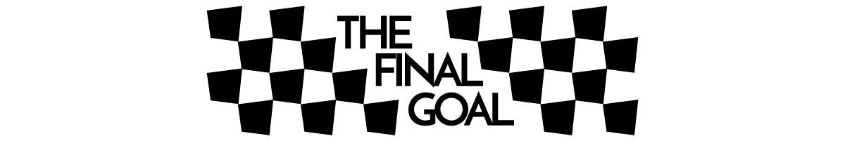 """a checkerboard pattern with """"the final goal"""" in the middle"""