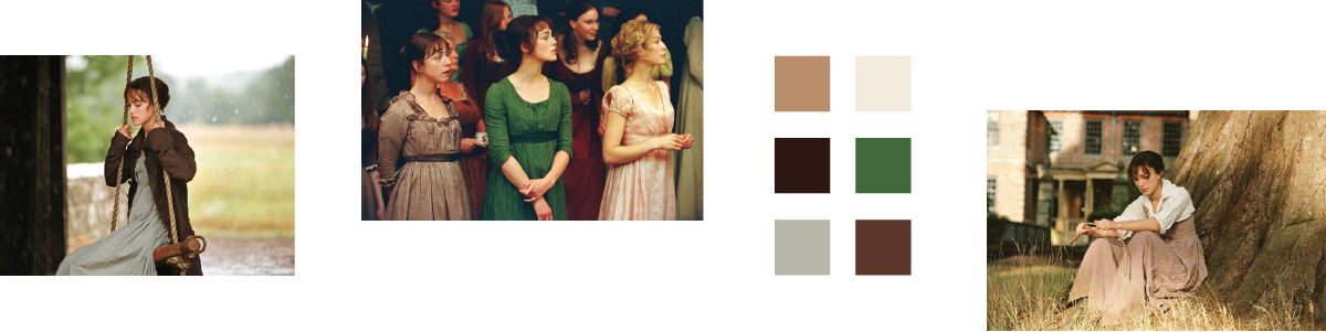 Color Palettes Based On Pride Prejudice 2005 Sierra Kellermeyer Designs