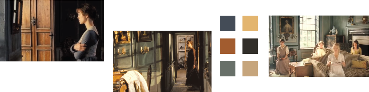 Shots of the Bennet home and a six color palette