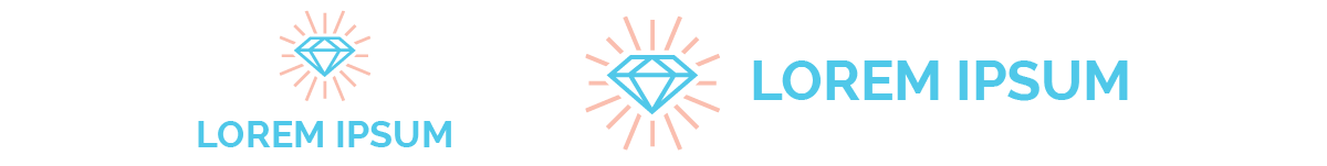 DIamond logos in different layouts