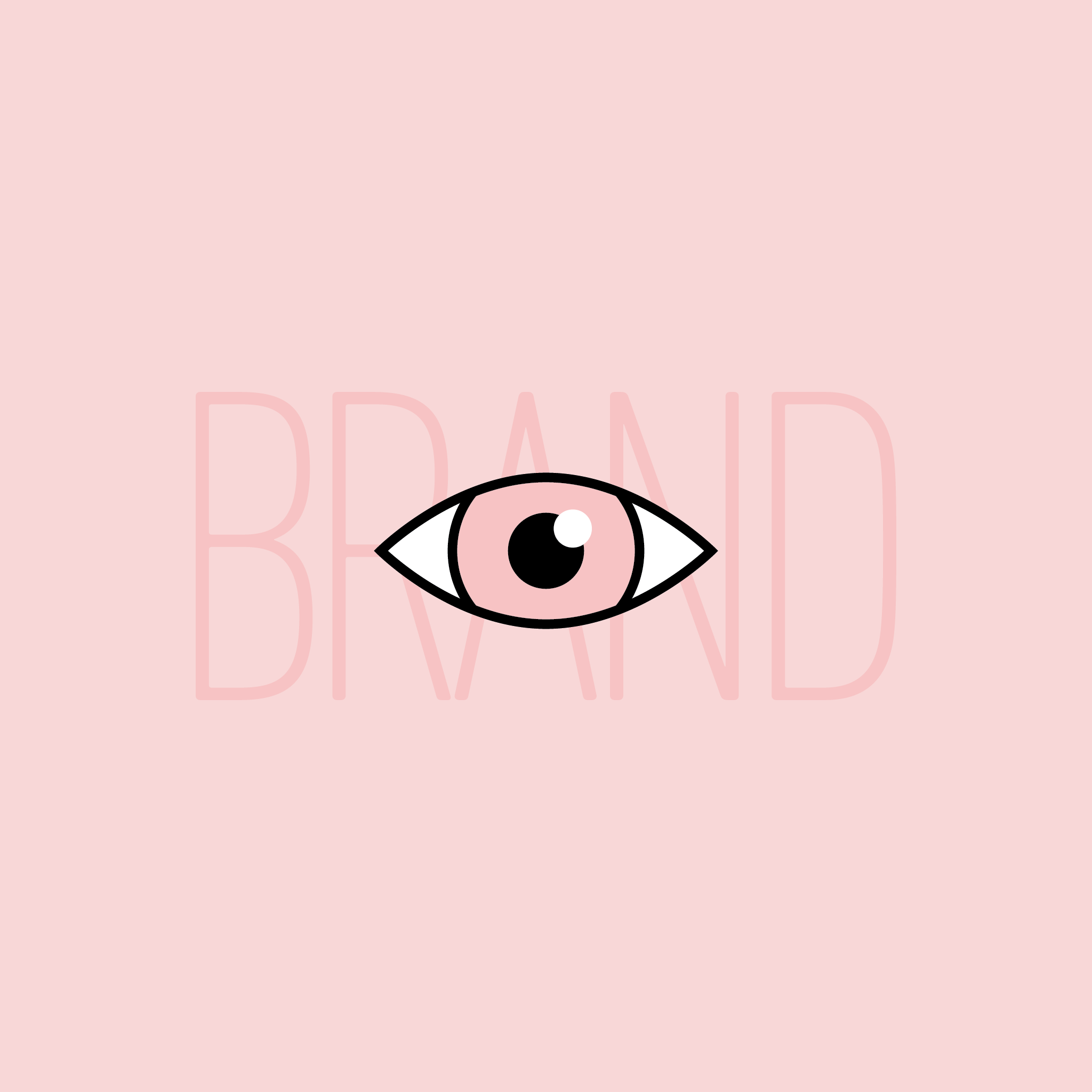An eye over the word brand