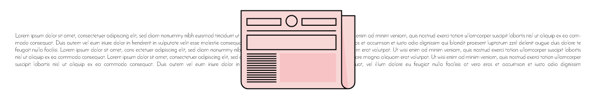Illustration of a newspaper