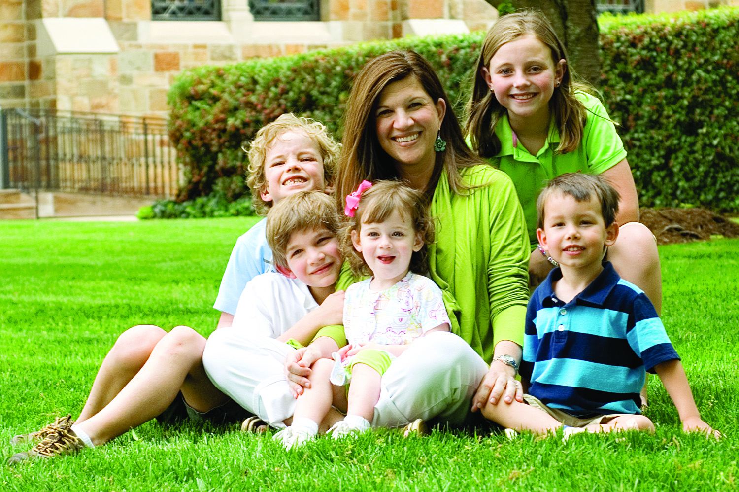 Dr. Amy Green with children.