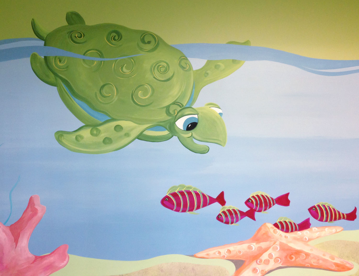 Your children will love our colorful wall murals.