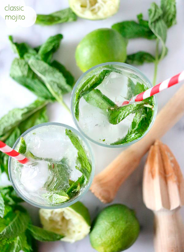 I absolutely love a good, classic mojito. But, if you wanna add a little summery spin to it, switch out your basic rum for coconut rum, yum! What you need: 6 mint leaves // 1 lime, cut in half // 1-1/2 teaspoons Truvia Spoonable (I prefer simple syrup) // 2 ounces coconut rum // Ice // Seltzer water