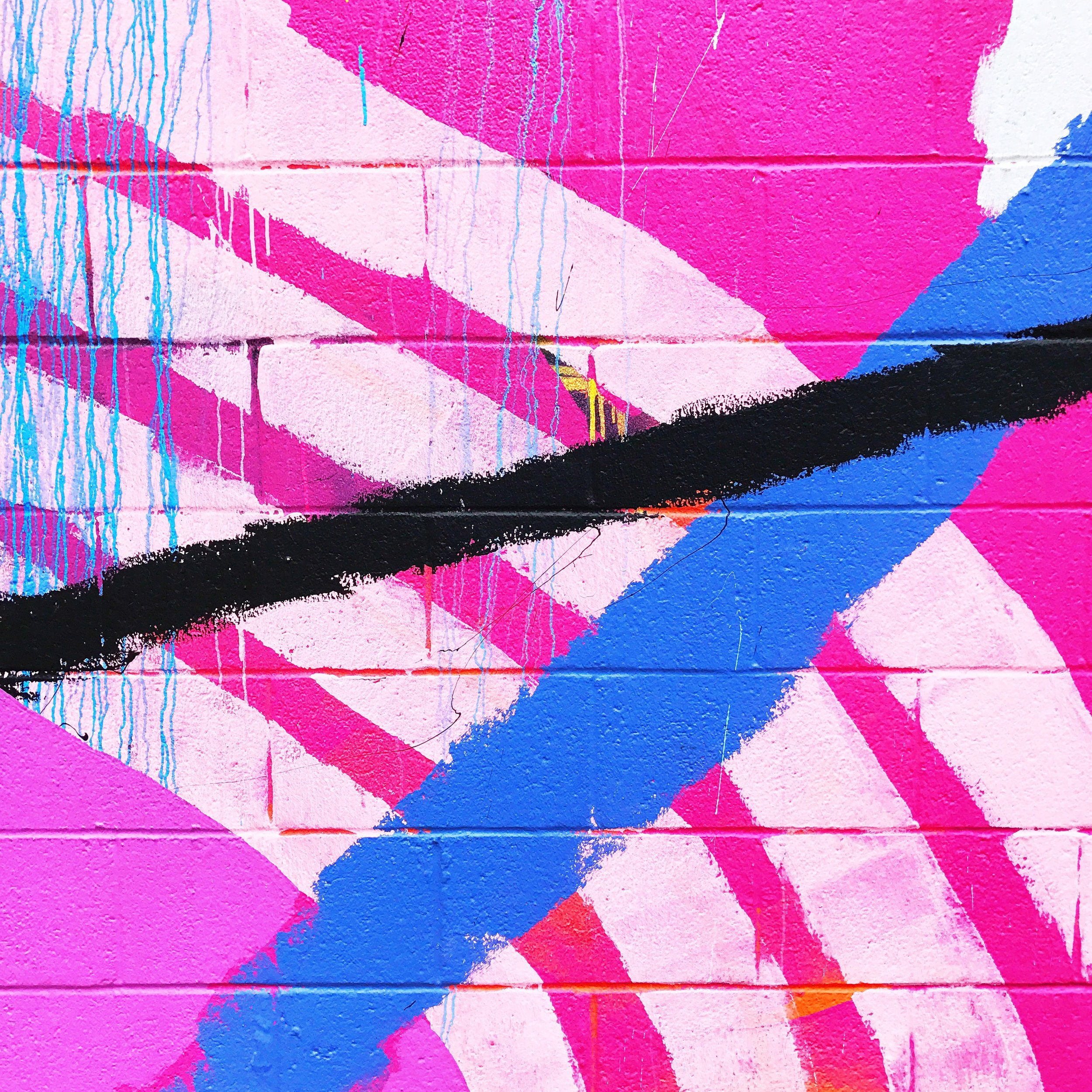brightpinkblueblackabstract