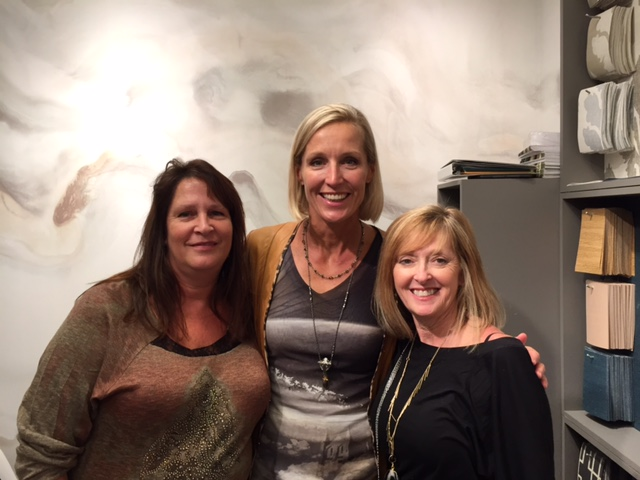 Me and my good friends Candace Olsen and Vicky Macenka at the High Point Market. Candace has a great line of carpets and fabulous wall paper I can help you purchase.