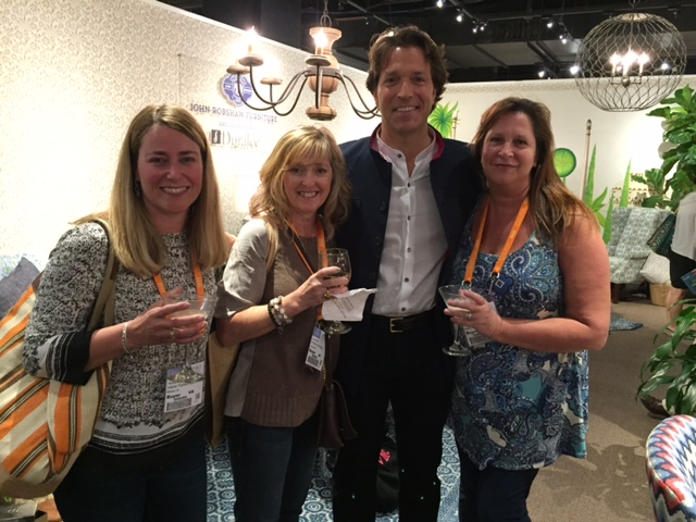 John Robshaw has fantastic furniture, textiles, bedding and pillows. I hung out with him to learn about his product line, with fellow Designer friends Vicky Macenka from Interior Transformations in Richmond and Tammy Neuman also from Richmond.