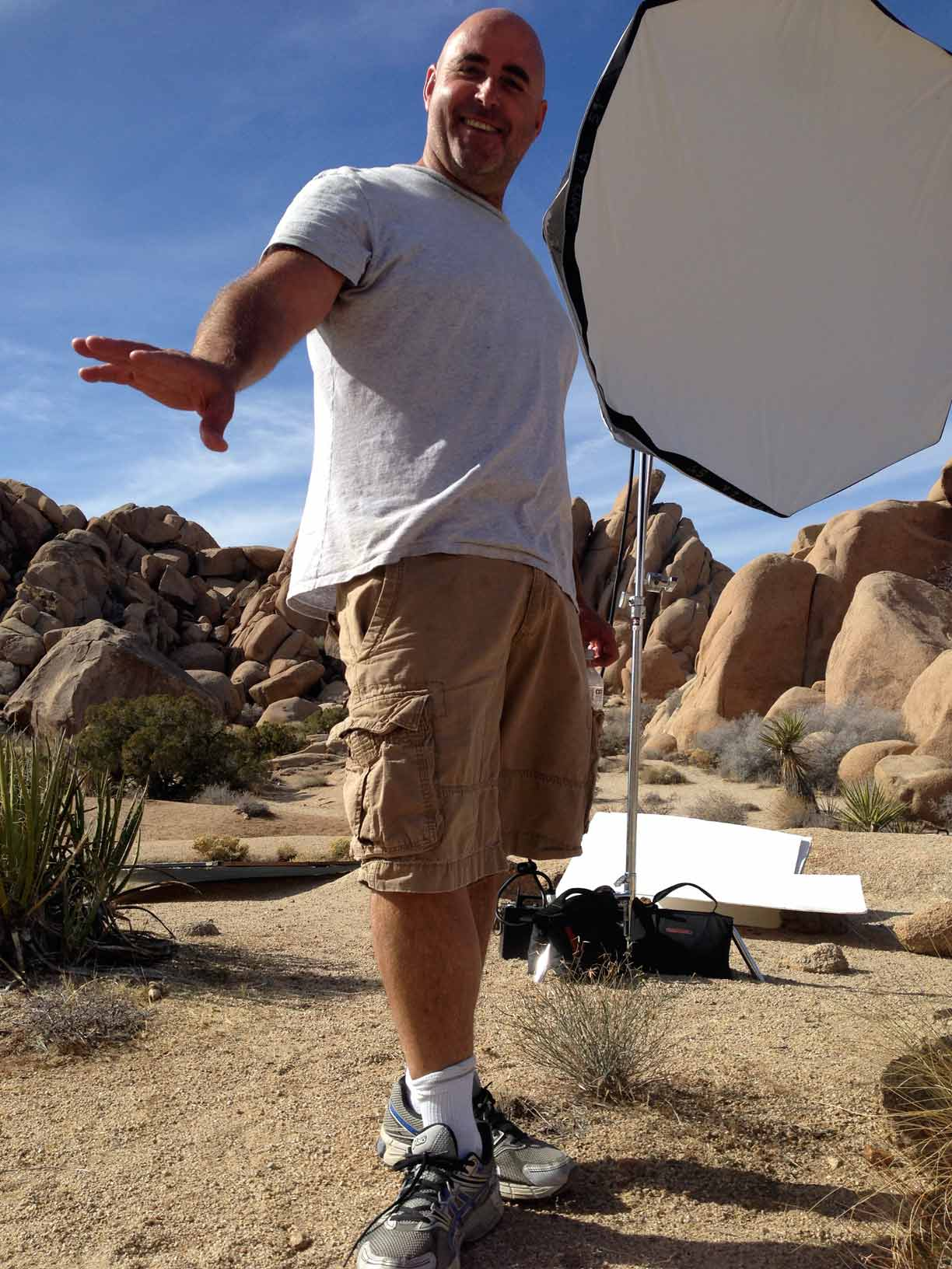 My friend and photographer Geoff Ragatz surfing the desert sand. It was Geoff's idea to come here today.