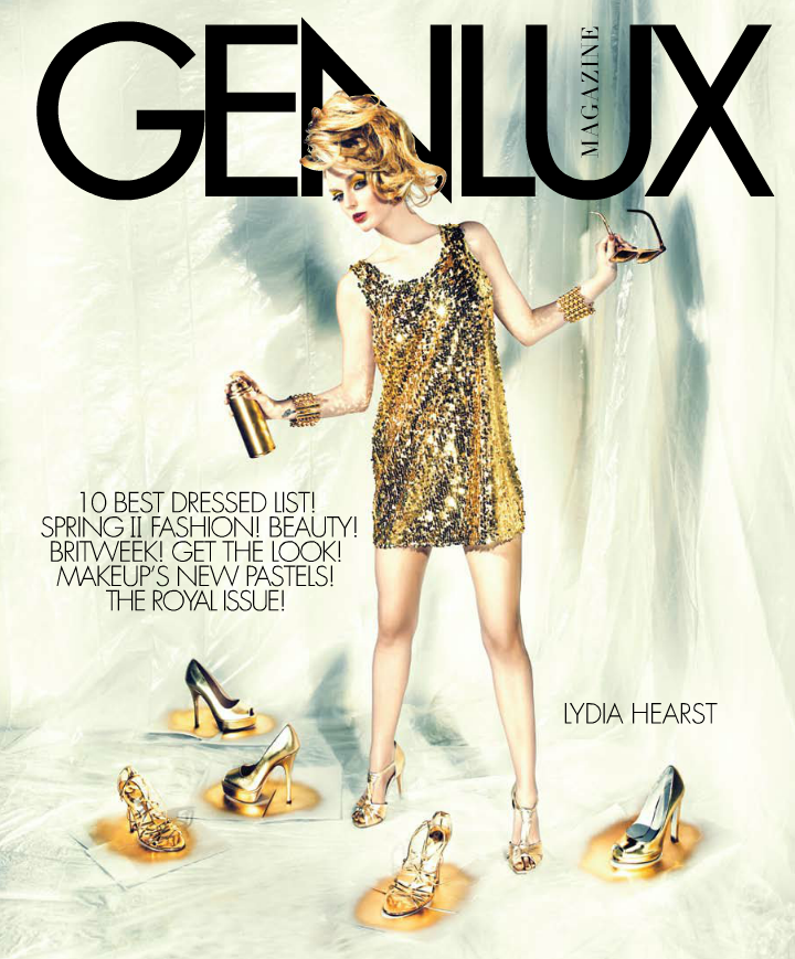 Genius Genlux cover with Lydia Hearst back in Spring of 2010. Now she's back for our Spring/Summer 2013 issue