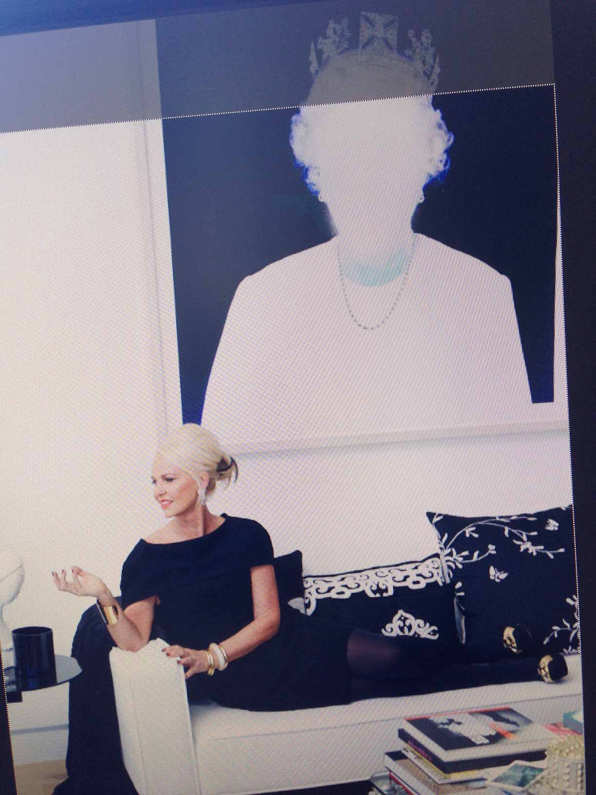 Amanda Eliasch, our elegant fashion editor, author, photographer, filmmaker, and diva, in her home.