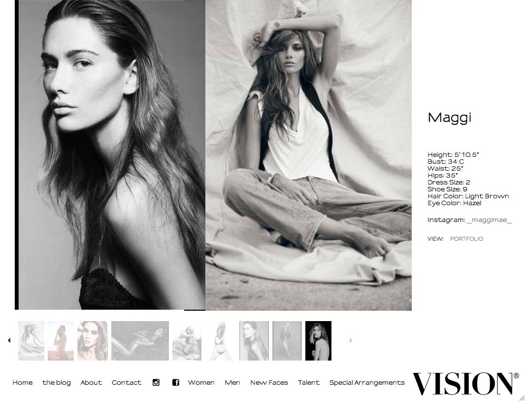 Here is our stunning model for the day! Maggi from Vision Models. We haven't used Vision for a while but they have some really great girls.
