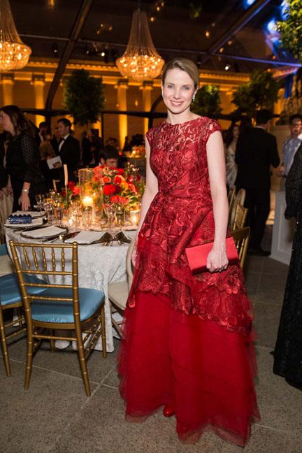 Marissa Mayerat theSalvatore Ferragamo 2014 Mid-Winter gala to benefit the Fine Arts Museums, San Francisco