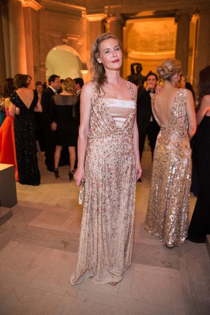 Connie Nielsen at the Salvatore Ferragamo 2014 Mid-Winter gala to benefit the Fine Arts Museums, San Francisco, wearing Salvatore Ferragamo