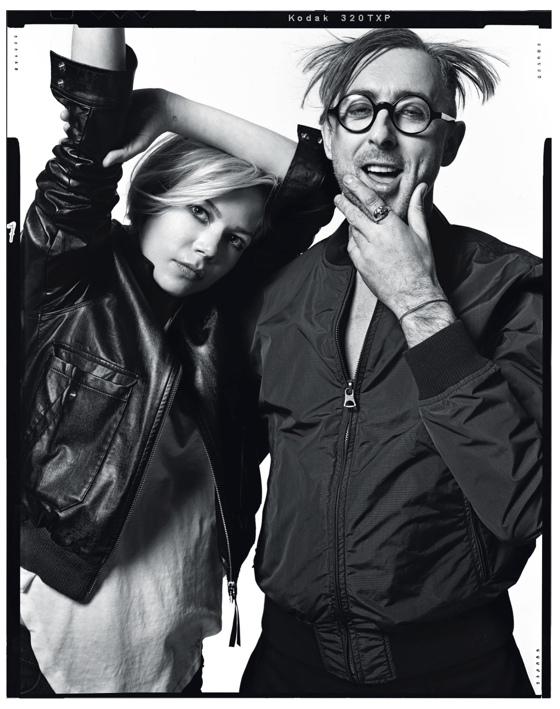 photograph of Michelle Williams and Alan Cumming by norman jean roy for  New York Magazine
