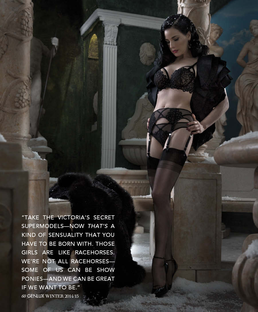 """Dita Von Teese's great quote, """"We're not all racehorses, some of us can be show ponies."""""""