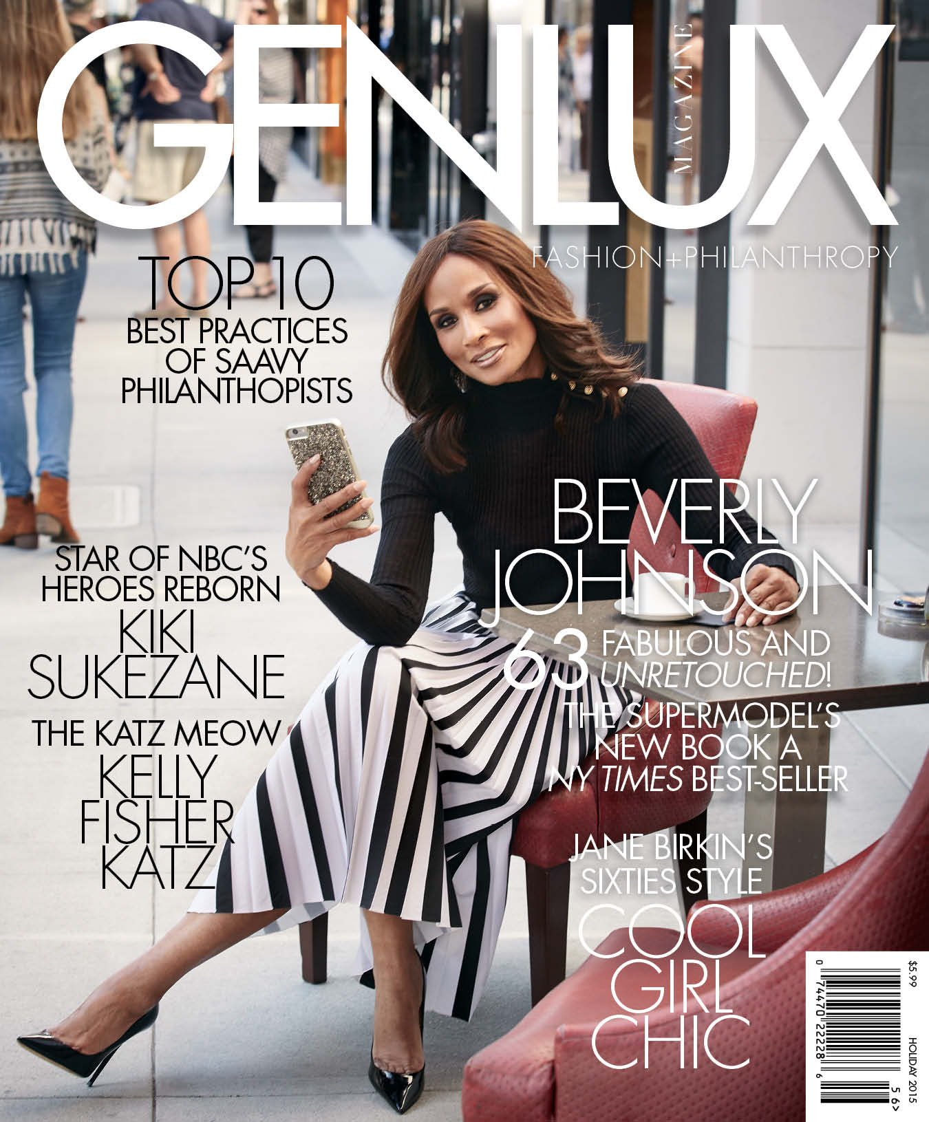 Beverly Johnson Genlux Holiday 2015 cover