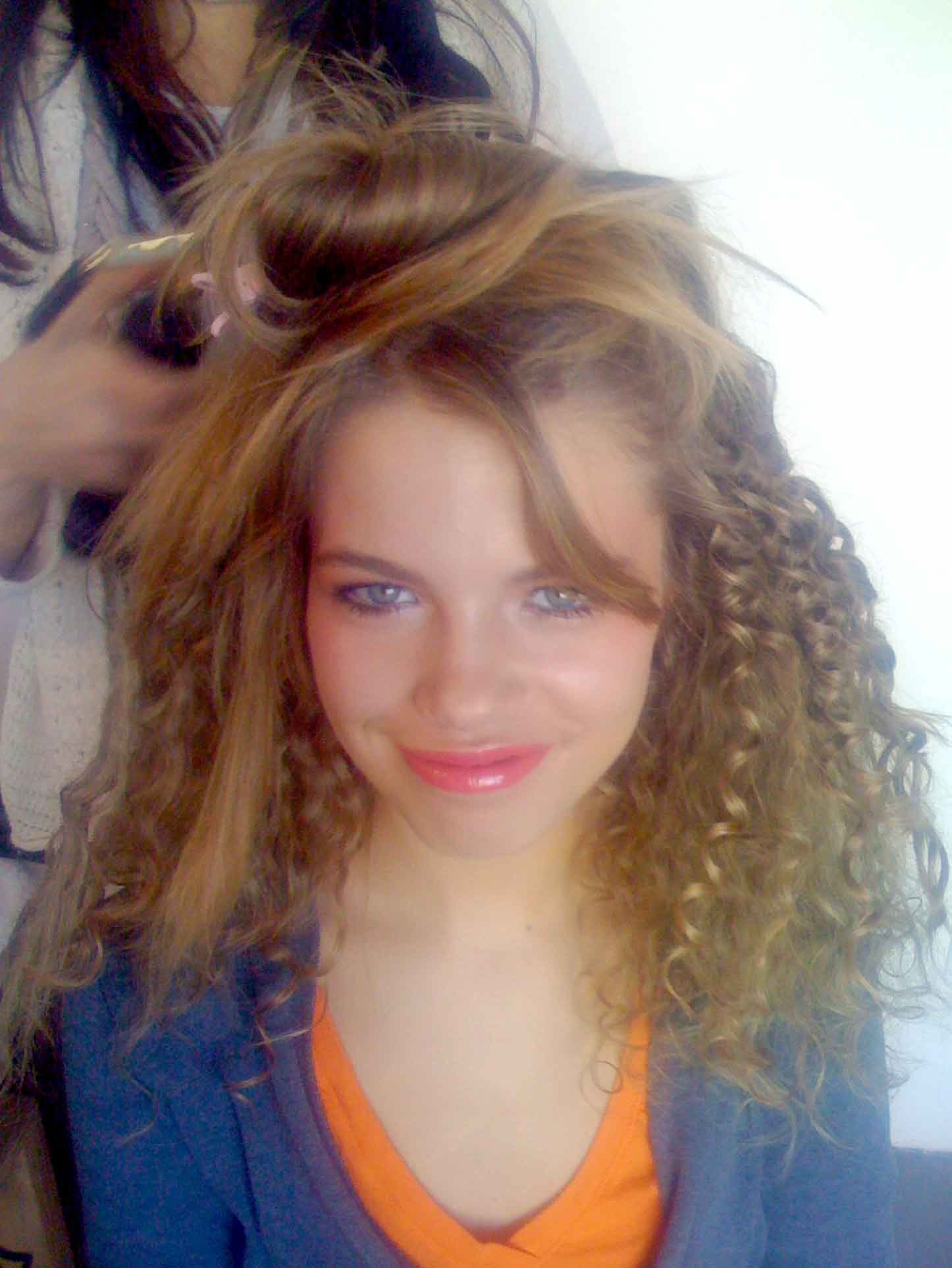 Hailey Clauson in hair and makeup for Genlux shoot